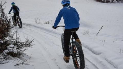 Fatbiking by Laurie H Ilton