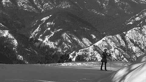 Ski black and white JP small