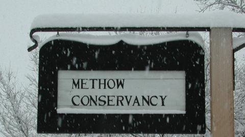 Snow sign large